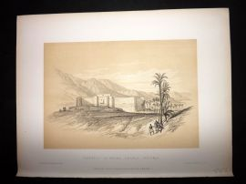David Roberts Holy Land 4to 1887 Antique Print Fortress of Akaba, Arabia Petraea